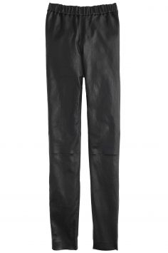 Click to buy J. Crew navy leather trousers