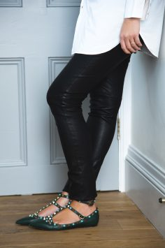 Image of Petro Stofberg in Joseph leather leggings