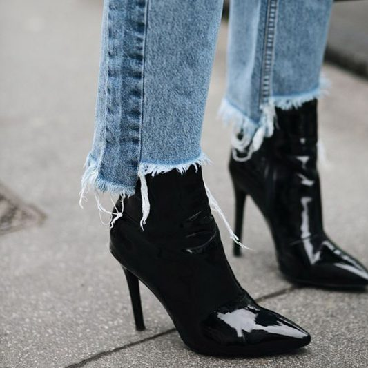 Image of Street style star wearing ankle boots