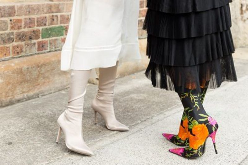 Image of Elle Ferguson and Tash Sefton wearing sock boots