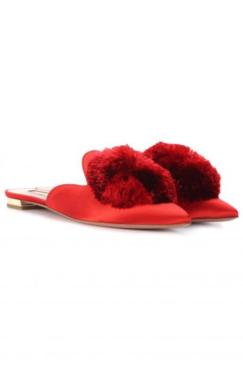 Click to Buy Aquazzura Satin Slippers