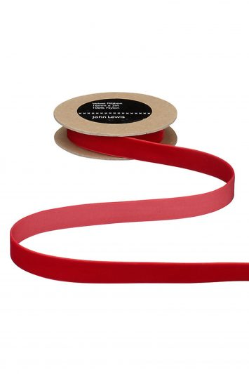 Click to Buy John Lewis Red Velvet Ribbon