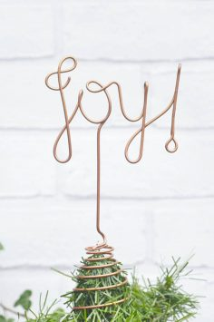 Click to Buy Joy Wire Christmas Tree Topper