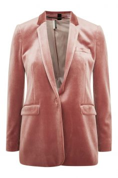 Click to Buy Topshop Velvet Suit Jacket