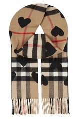 Click to Buy Burberry Heart Print Scarf
