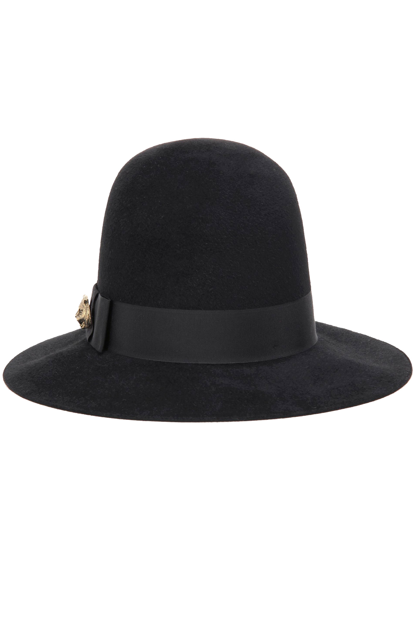 484349f796e707 Buy Gucci Embellished Rabbit-Felt Black Hat Online