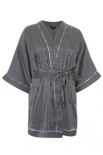 Click to Buy Topshop-Satin-Stripe-Dressing-Gown