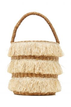 Click to Buy Kayu Fringed Straw Bag