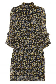 Click to Buy Ganni Marceau Georgette Floral Print Dress