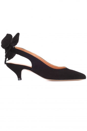 Click to Buy Ganni Sabine Suede Slingback Pumps