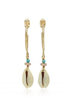 Click to Buy Isabel Marant Bead Shell Gold Earrings