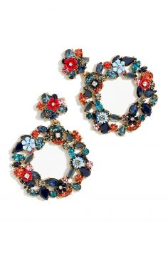 Click to Buy J. Crew Floral Hoop Earrings