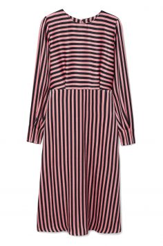 Click to Buy Mango Pink Striped Maxi Dress