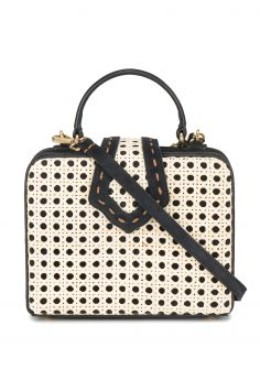 Click to Buy Mehry Mu Black & Cream Fey Box Bag