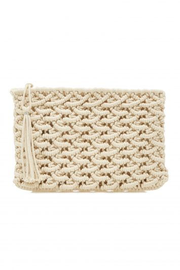 Click to Buy Rae Feather Macrame Clutch