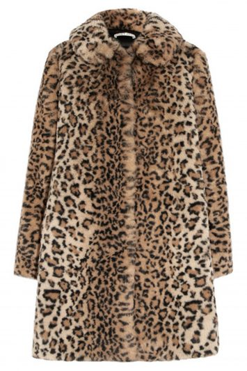 Click to Buy Alice + Olivia Kinsley Leopard Print Coat