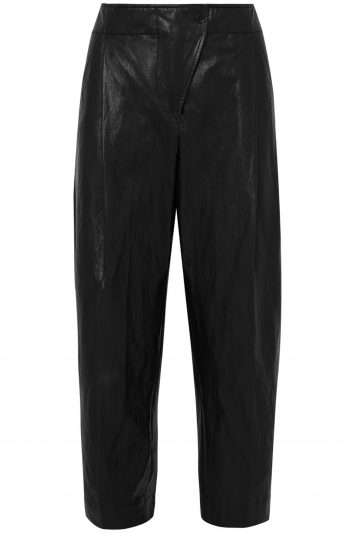 Cédric-Charlier-Faux-Leather-Tapered-Pants