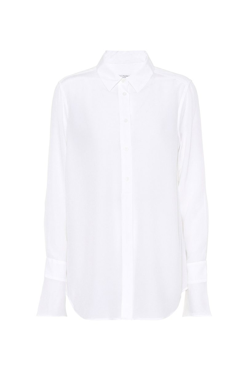 Click to Buy Equipment Camisa De Seda Silk White Shirt