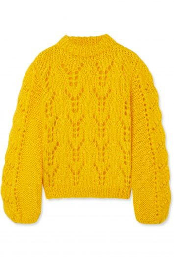 Click to Buy Ganni-Yellow-Knit
