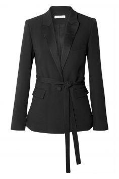 Click to Buy Black IRO Satin Trimmed Blazer Online