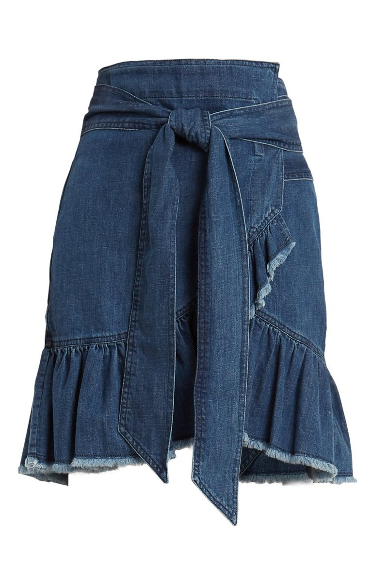 Click to Buy Isabel Marant Etoilé Denim Wrap Skirt