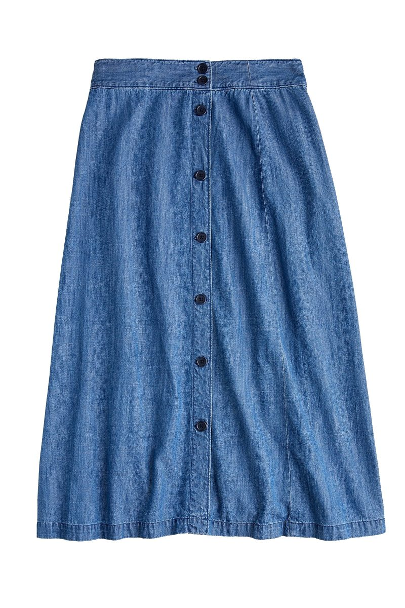 Click to Buy J. Crew Cotton Chambray Denim Skirt