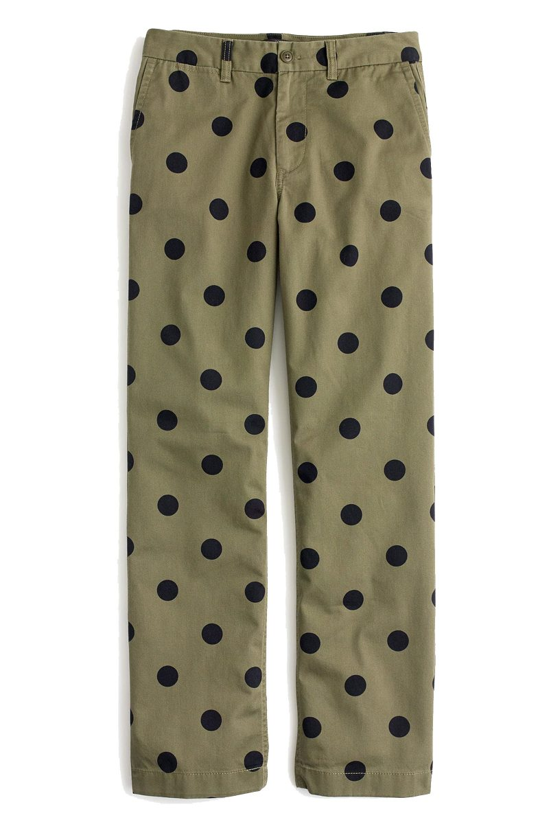 J. Crew Chino Polka Dot Pants