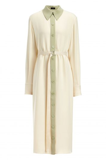 Click to Buy Joseph Lucas Crepe Silk Midi Dress