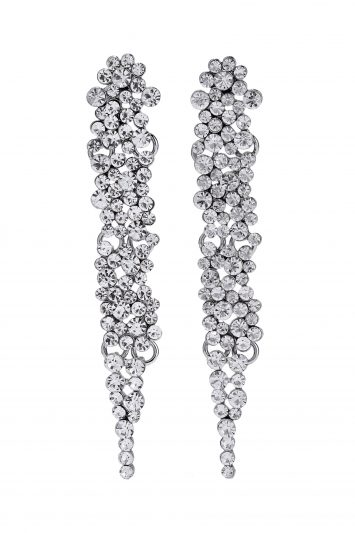 Click to Buy Kenneth Jay Lane Silver Tone Earrings