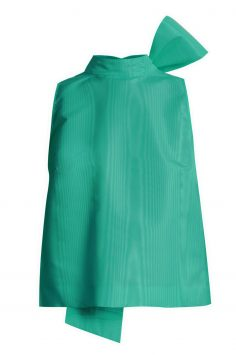 Click to Buy MSGM Jade Green Bow Detail Top