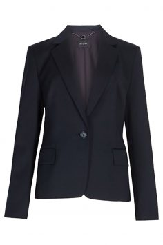 Click to Buy Marks & Spencer Autograph Navy Wool Blend Single Breasted Blazer