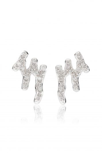 Click to Buy Monica Vinader Riva Waterfall Stud Diamond Earrings