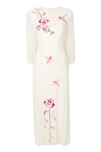Click to Buy Vilshenko Olivia Cream Silk Dress