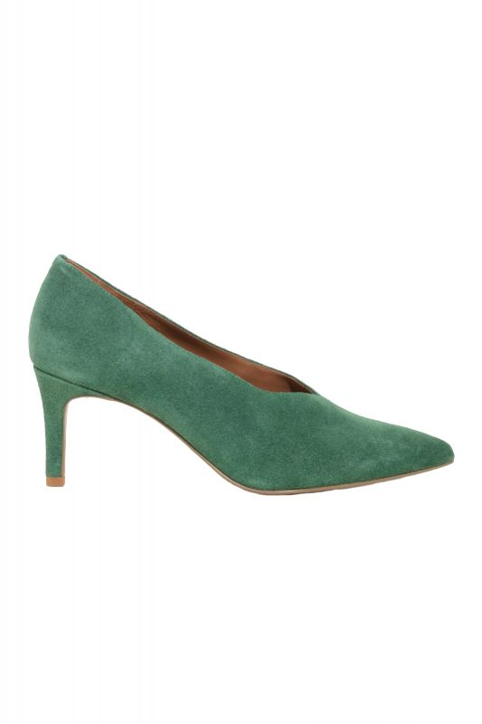 Click to Buy & Other Stories Green Suede Heels