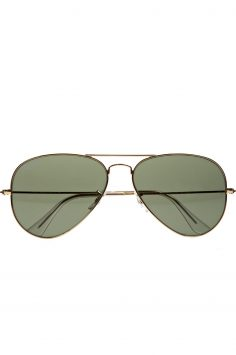 Click to Buy Ray-ban Gold Tone Aviator Sunglasses