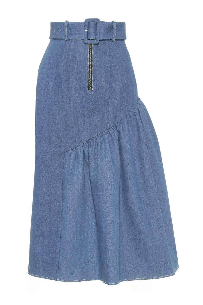 Click to Buy Rejina Pyo Bonnie Asymmetrical Denim Skirt