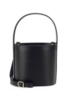 Click to Buy Staud Black Leather Bisset Bucket Bag