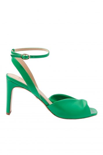 Click to Buy Topshop Raven Green Heeled Sandals