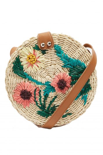 Click to Buy Topshop Straw Crossbody Bag