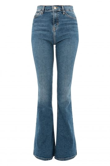 Click to Buy Topshop MOTO Jamie Flared Blue Jeans