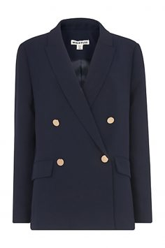 Click to Buy Whistles Navy Double Breasted Blazer