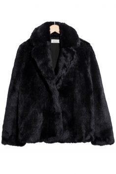Click to Buy & Other Stories Black Fur Coat