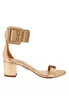 Click to Buy Aquazzura Casablanca Gold Heeled Sandals