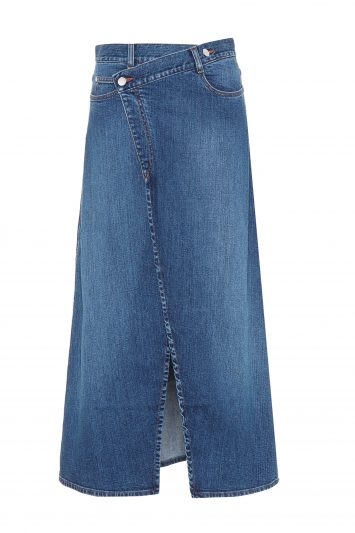 Click to Buy Stella McCartney Denim A Line Midi Skirt
