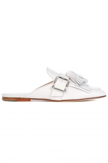 Click to Buy Tod's White Leather Slip Ons