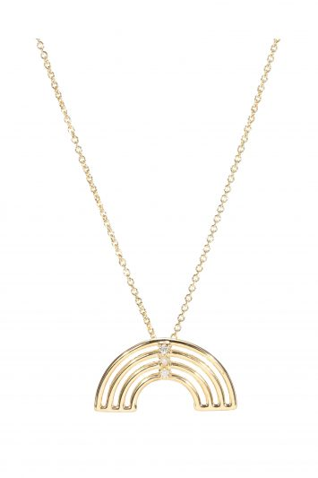 Click to Buy Aliita Gold Necklace With Diamonds