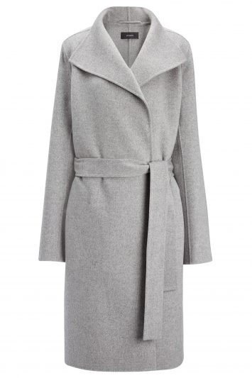 Click to Buy Joseph Double Faced Grey Cashmere Coat