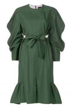 Click to Buy Eudon Choi Green Gathered Dress