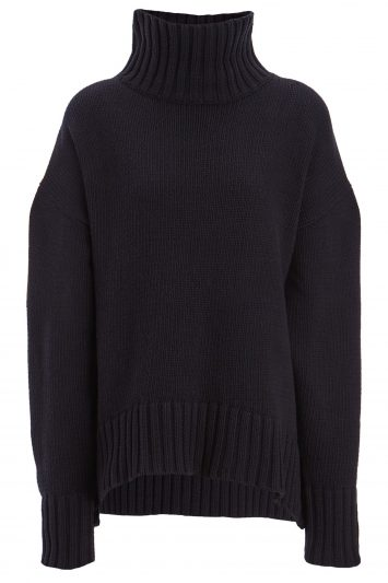 Click to Buy Joseph Chunky Knit Sloppy Joe Navy Sweater