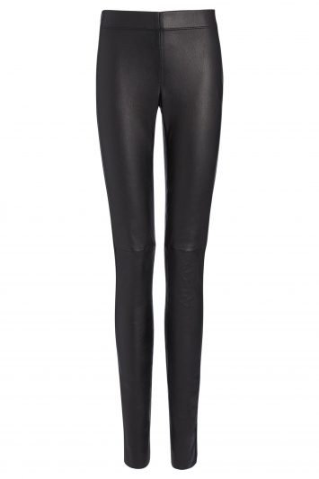 Click to Buy Joseph Black Stretch Leather Leggings